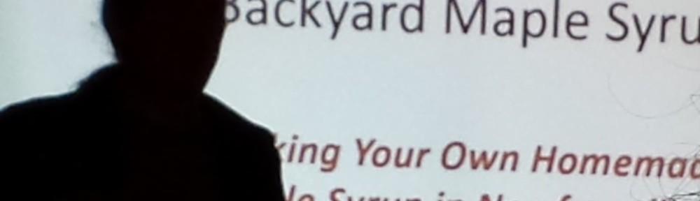 Steve McBride, Backyard Maple Syrup, Pippy Park