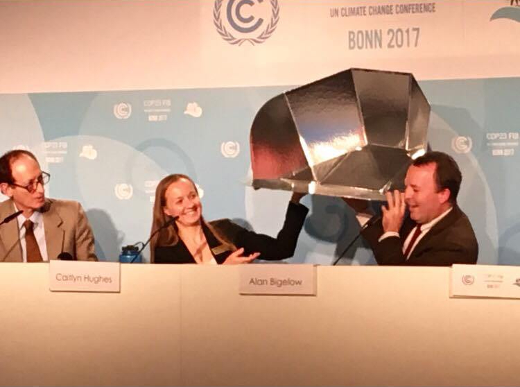 Solar Cookers International Press Conference at COP23 - photo by Perla Hernandez