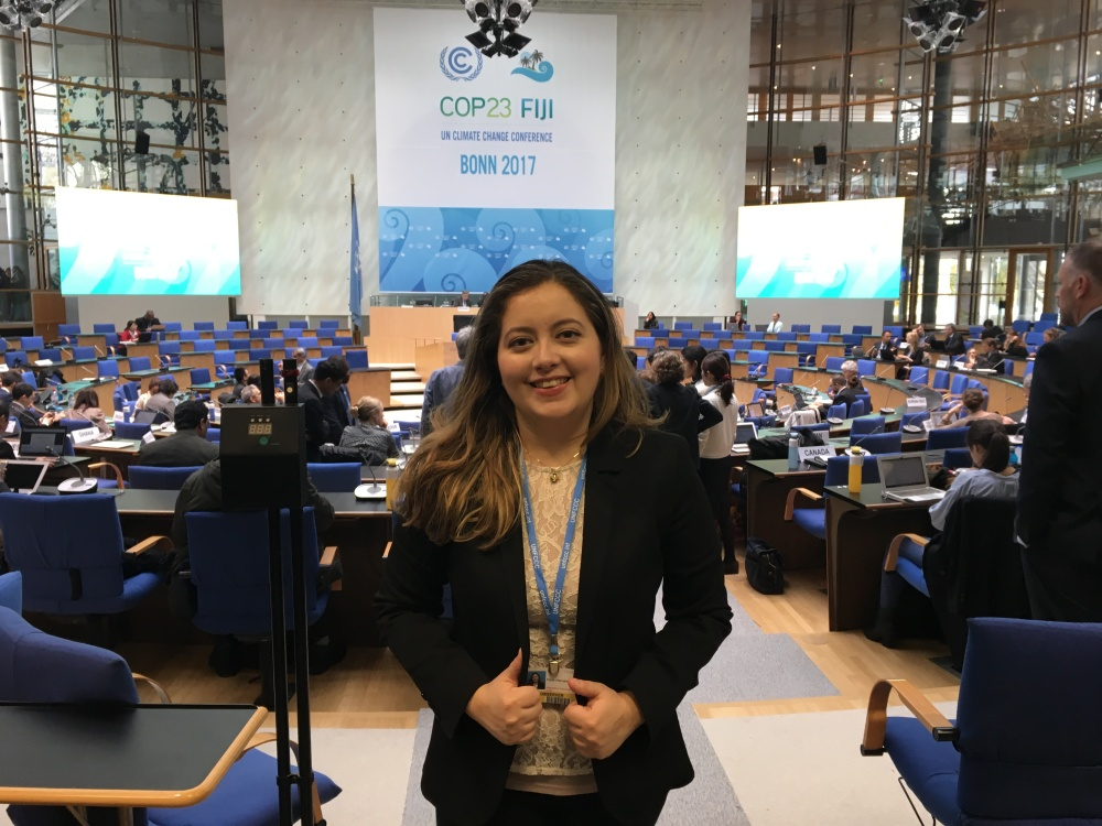 thegreenrock.ca's project coordinator Perla Hernandez at COP23