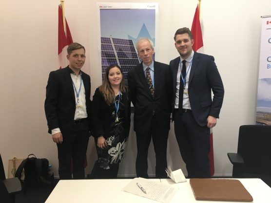 International Federation of Liberal Youth meeting with Canada's Ambassador to Germany, and Special Envoy to the EU, Stephane Dion